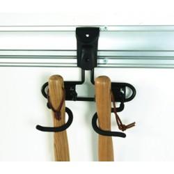 CLICK SYSTEM - Crochet double pour les outils à manche - FISCHER