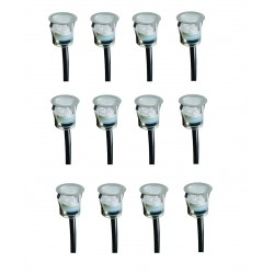 Lot de 12 minispots ronds 27mm DECKY 1 LED Cold Blanc - AKANUA