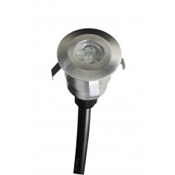 Lot de 3 minispots ronds 40 mm DECKY 6R - LED cold blanc + filtres 3 couleurs - Diam 40mm - AKANUA
