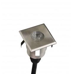 Lot de 3 minispots carrés 40mm DECKY 6S LED Cold Blanc + filtres 3 couleurs - AKANUA