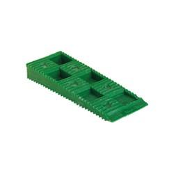Carton de 100 Cales crantées multi-usages - 80 x 30 x 10 mm VERTES