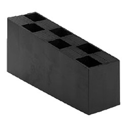Carton de 50 Cales crantées multi-usage - 70 x 45 x 150 mm  NOIRES