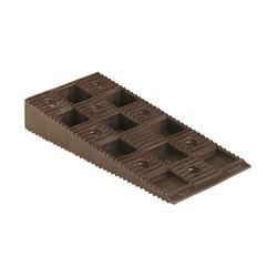 Carton de 100 Cales crantées multi-usages - 90 x 45 x 15 mm MARRONS