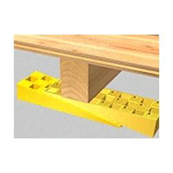 Carton de 50 Cales crantées multi-usage -150 x 45 x 25 mm  JAUNES