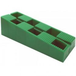 Carton de 300 Cales crantées multi-usages - 130 x 45 x 44 mm VERT TOPSTORE
