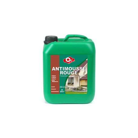 Traitement antimousse rouge et jaune bidon 6 l manubricole for Algue rouge piscine