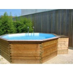 GARDIPOOL OCTOO 4,20 x 1,33 MARGELLE PIN - PISCINE BOIS