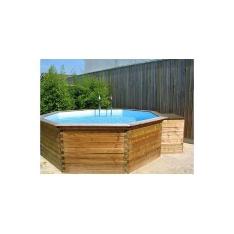 gardipool octoo 6 25 x 1 33 margelle pin piscine bois manubricole. Black Bedroom Furniture Sets. Home Design Ideas