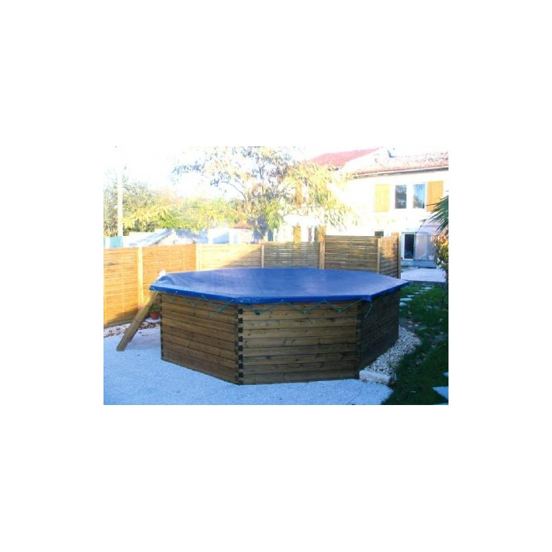 Gardipool octoo 6 25 x 1 33 margelle pin piscine bois for Piscine 33