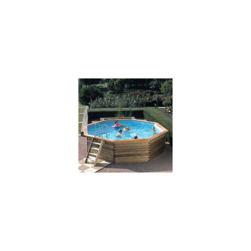 Gardipool octoo 4 20 x 1 33 margelle ipe piscine bois for Piscine 33