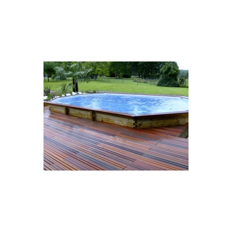 Gardipool oblong 3 90 x x 1 20 margelle pin piscine for Piscine 1m20