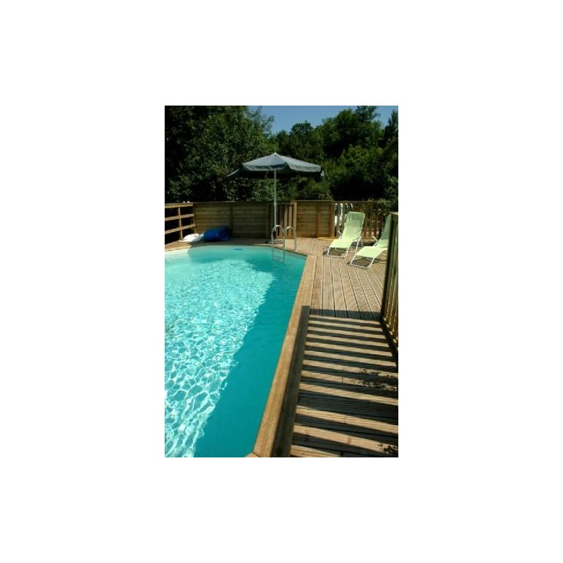 Gardipool oblong 3 90 x x 1 20 margelle ipe piscine for Margelle piscine bois