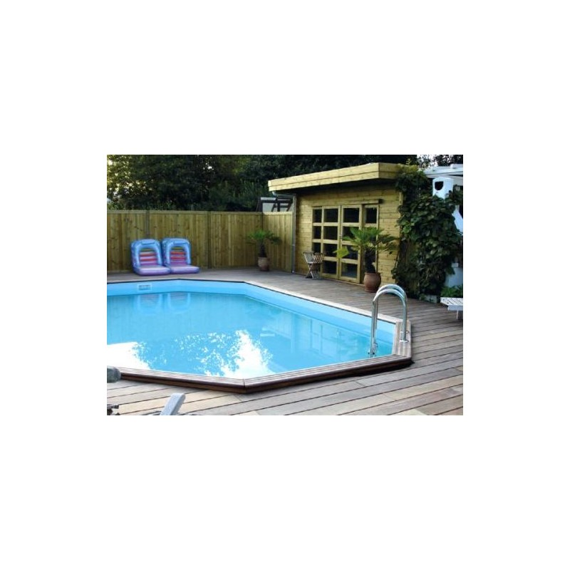 Gardipool oblong 3 90 x x 1 33 margelle ipe piscine for Margelle piscine bois