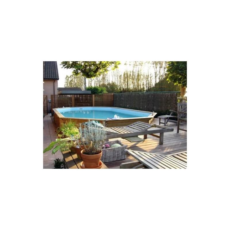 Gardipool oblong 4 60 x x 1 46 margelle pin piscine for Piscine 4 x 8