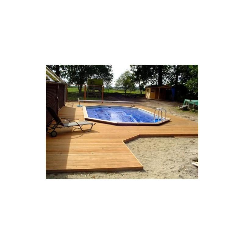 Gardipool oblong 4 60 x x 1 46 margelle ipe piscine for Piscine 4 x 8