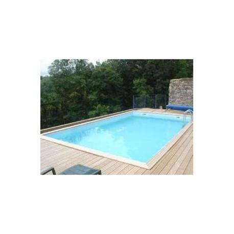 Gardipool quartoo 3 00 x x 1 33 margelle pin for Accessoire piscine bois