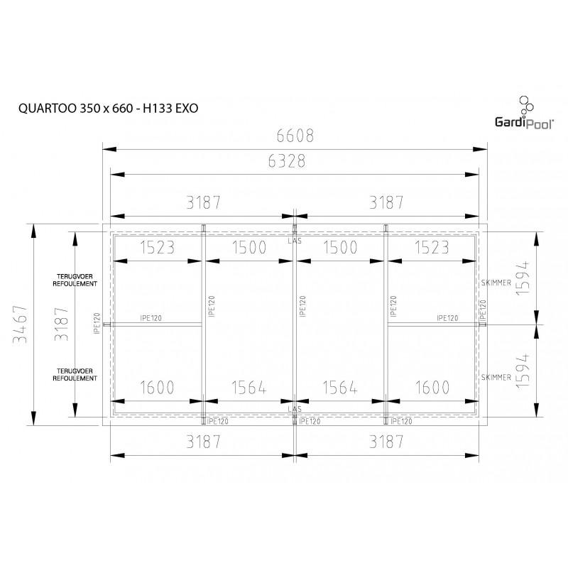 gardipool quartoo 3 50 x x 1 33 margelle ipe piscine bois manubricole. Black Bedroom Furniture Sets. Home Design Ideas