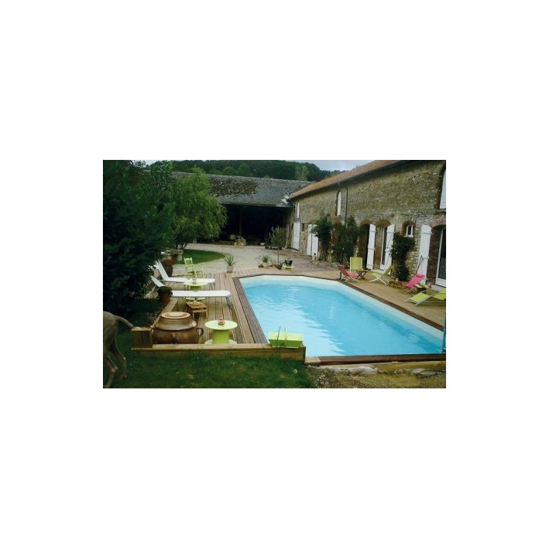 Gardipool rectoo 3 90 x x 1 33 margelle ipe piscine for Piscine 33