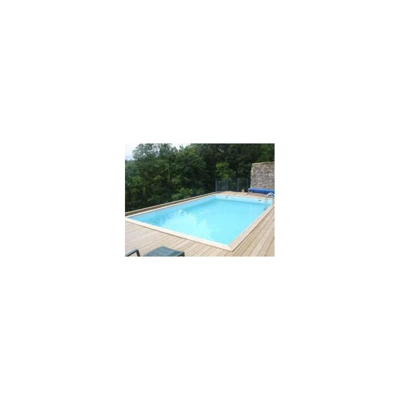 Gardipool quartoo 3 50 x 9 80 x 1 46 margelle ipe for Liner piscine diametre 3 50