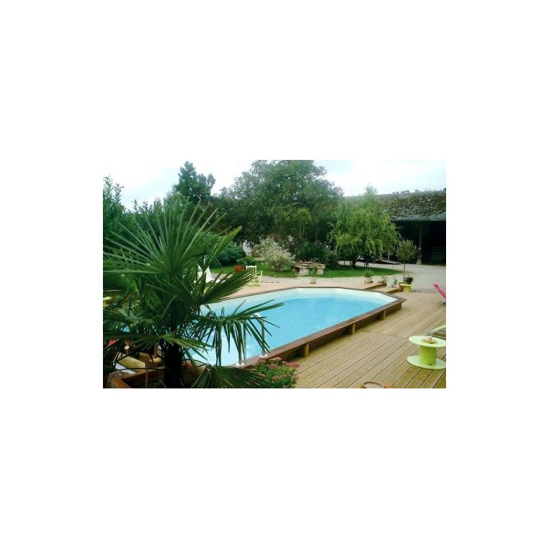 Gardipool rectoo x x 1 46 margelle ipe piscine for Piscine bois gardipool