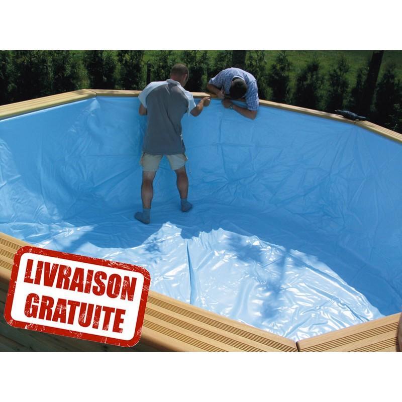 Liner pour piscine oblong 390 x 620 h120 gardipool for Piscine liner