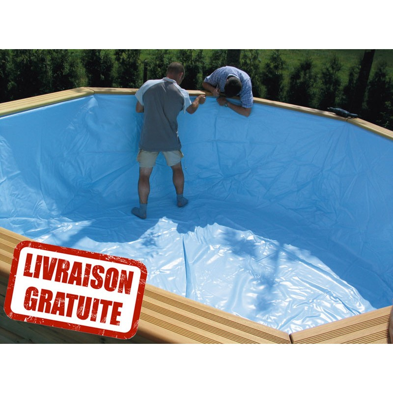 liner pour piscine oblong 390 x 620 h120 gardipool manubricole. Black Bedroom Furniture Sets. Home Design Ideas