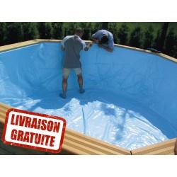 Liner pour piscine OBLONG 390 x 620 / h133 GARDIPOOL