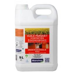 Huile parquet d'entretien environnement - incolore mat - 5 litres