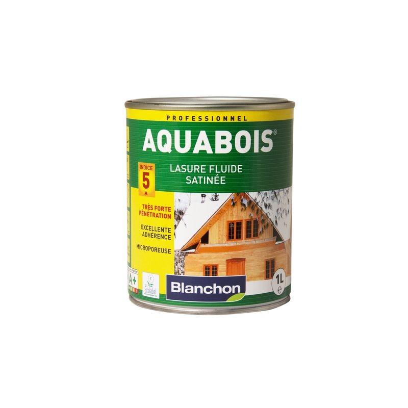 Aquabois lasure 2 5l incolore blanchon manubricole for Lasure blanche exterieur