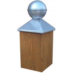 Chapeau boule pour poteau bois 7X7