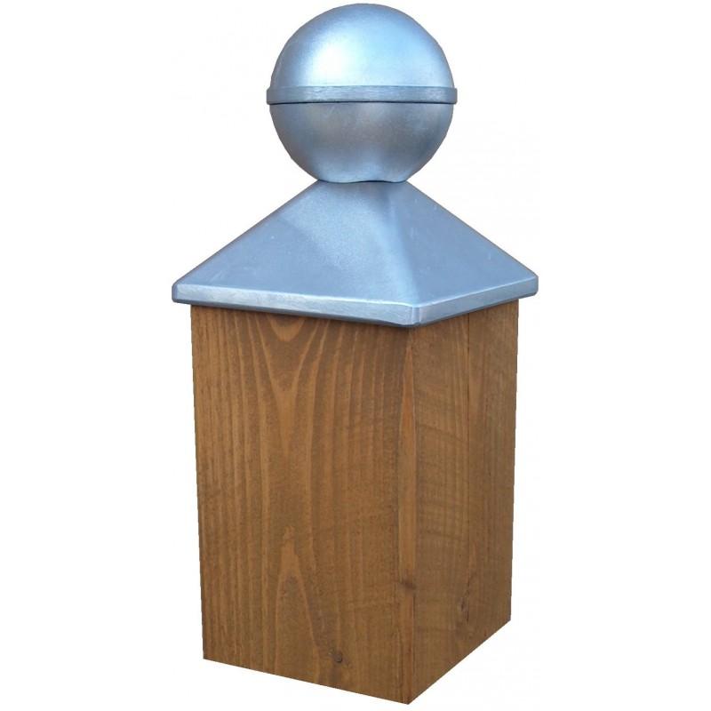 chapeau boule pour poteau bois 7x7 manubricole. Black Bedroom Furniture Sets. Home Design Ideas