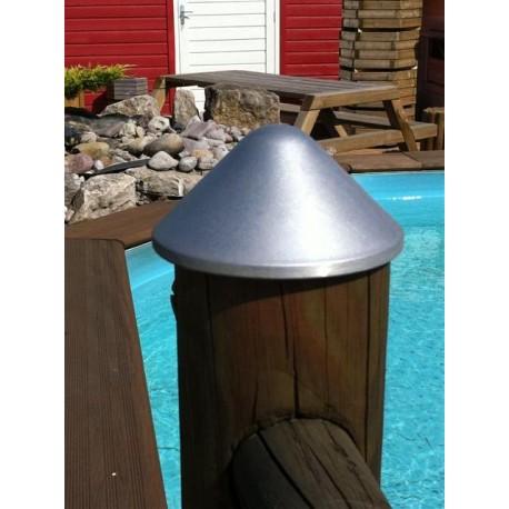 Chapeau pour poteau rond  Diamètre 140 mm