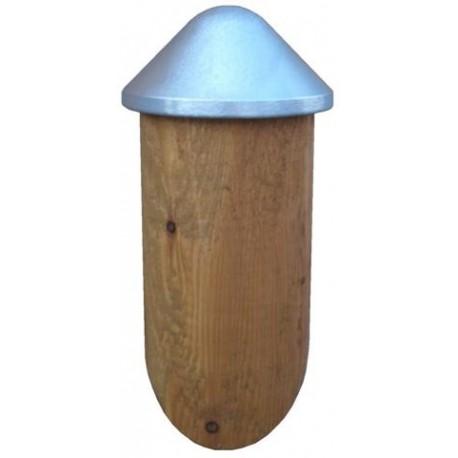 chapeau poteau bois rond. Black Bedroom Furniture Sets. Home Design Ideas