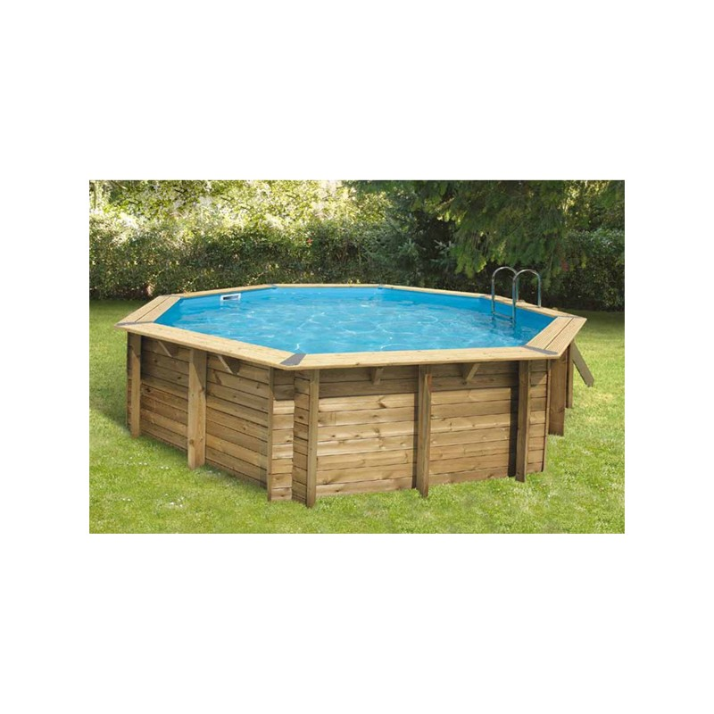 Piscine bois octogonale oc a 510 cm cm ubbink for Piscine octogonale