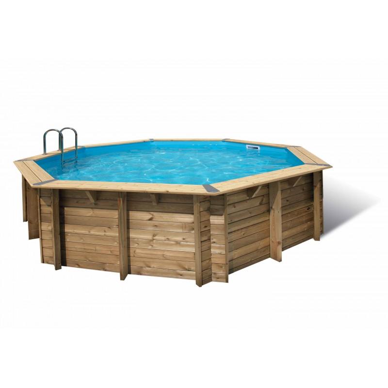 piscine bois octogonale oc a 580 cm cm ubbink. Black Bedroom Furniture Sets. Home Design Ideas