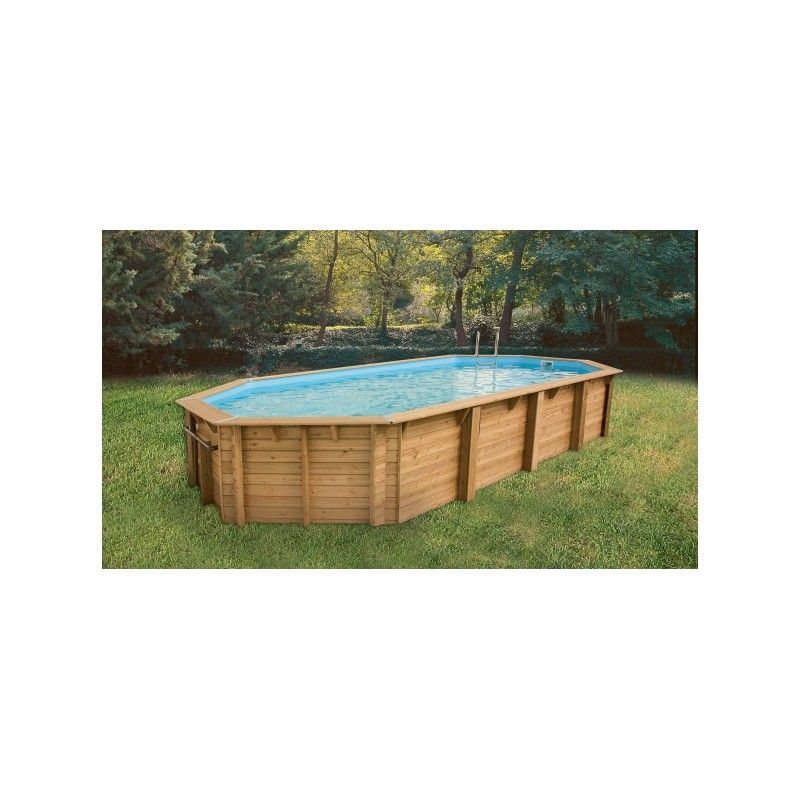 Piscine bois octogonale allong e oc a 470 x 860 cm for Piscine bois octogonale
