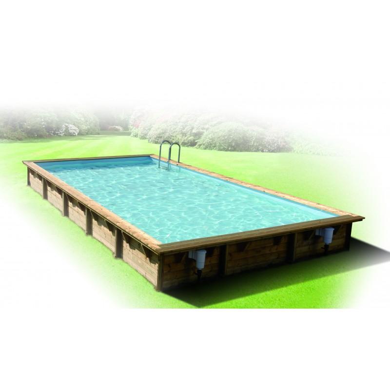 piscine bois rectangulaire lin a 500 x 800 cm ubbink manubricole. Black Bedroom Furniture Sets. Home Design Ideas