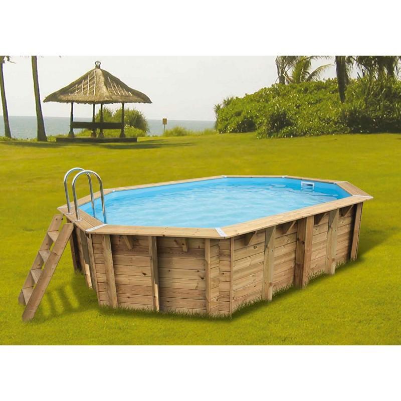 piscine bois ocea 355 x 550 cm cm ubbink manubricole. Black Bedroom Furniture Sets. Home Design Ideas