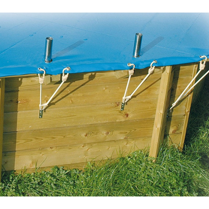 B che de s curit pour piscine azura 410 cm ubbink for Bache piscine securite