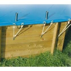 Bache de sécurité piscine Ubbink 355 x550 cm