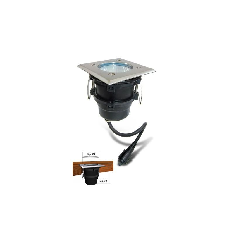 spot carre a encastrer 230 v easy connect 10 cm x 10 cm. Black Bedroom Furniture Sets. Home Design Ideas