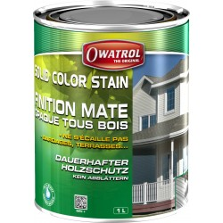SOLID COLOR STAIN - Lasure Opaque carbone - 2.5L - Durieu