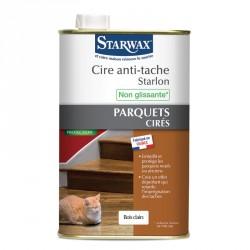 Cire anti-tache bois clairs Starlon pour parquet ciré 1L - Satrwax