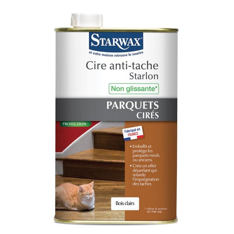 cire anti tache bois clairs starlon pour parquet cir 1l. Black Bedroom Furniture Sets. Home Design Ideas