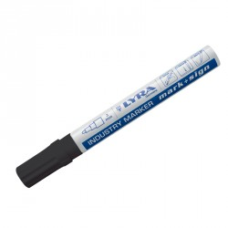 Marqueur peinture laquée noir pointe 2-4 mm - Lyra