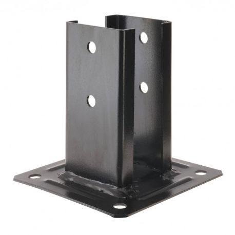 kit pour poteau carr noir 7x7 chapeau manubricole. Black Bedroom Furniture Sets. Home Design Ideas