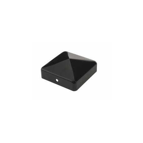 Chapeau pyramide noir pour poteau bois - 9x9