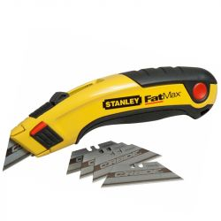 Cutter à lame rétractable + 5 lames CARBIDE - FATMAX - STANLEY