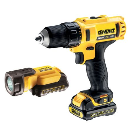 Perceuse visseuse 10,8 V 1,3 Ah Drill Driver + lampe LED + 3 batteries