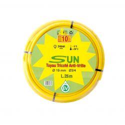 Tuyau d'arrosage SUN anti-vrille 19 x 25 M